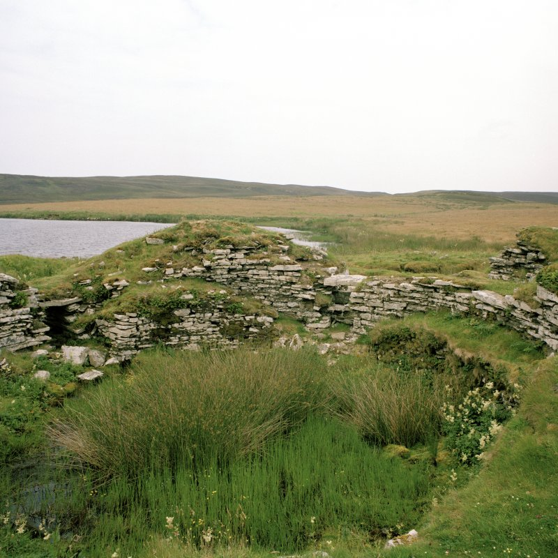 View of interior of broch from NW