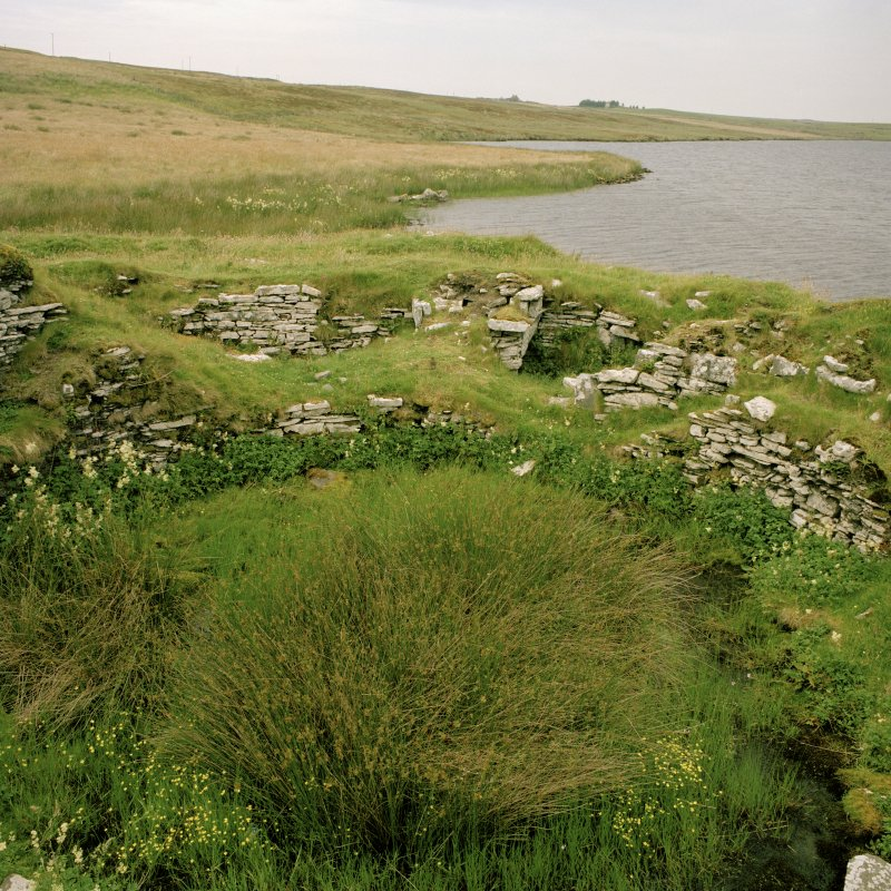 View of interior of broch from SE