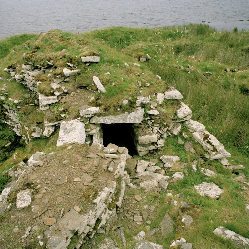 View from W of S side of broch