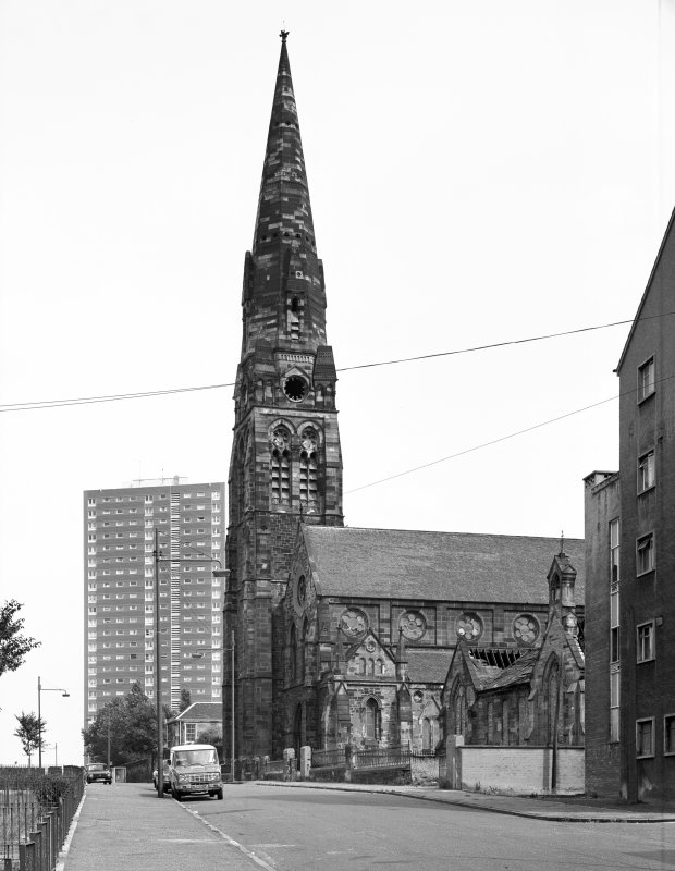 View from West  Townhead and Blochairn Parish Church