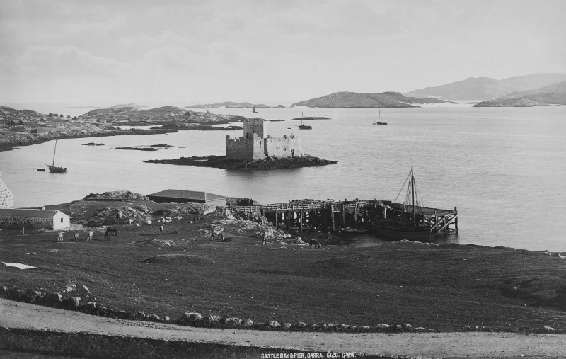 View from NW showing Castlebay pier.