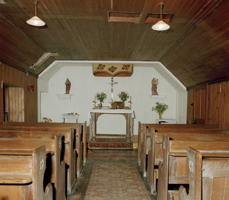 First floor, chapel, view from E.
