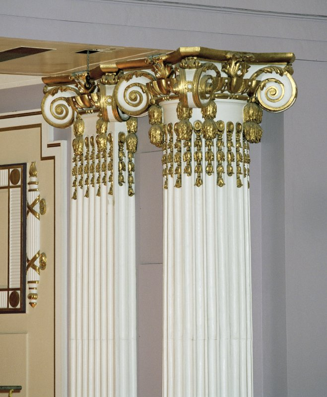Interior. Auditorium, detail of pilaster and capitol