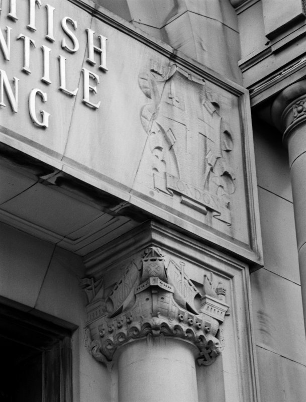 200 St Vincent Street Detail of main entrance column