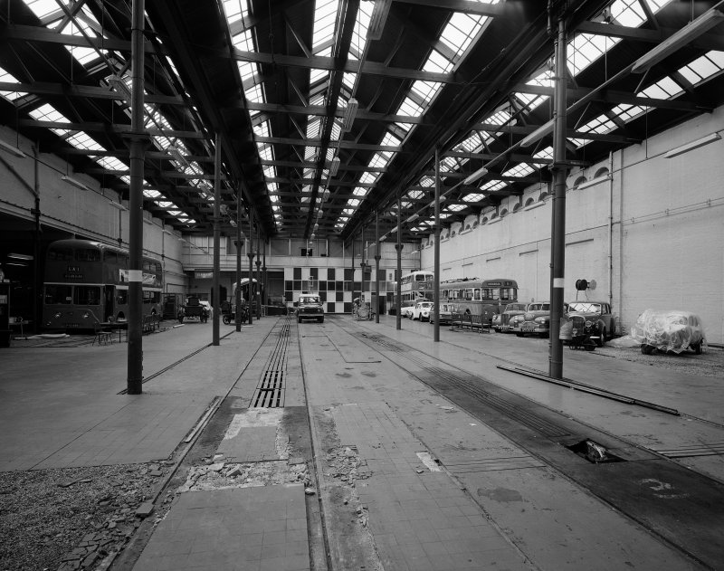 Glasgow Museum of Transport, interior. View of main hall from North.