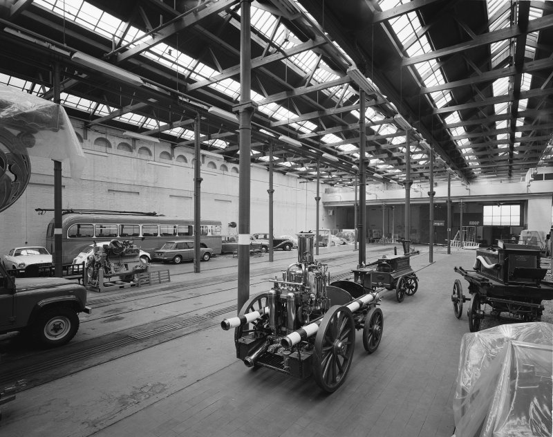 Glasgow Museum of Transport, interior. View of main hall from South-East.