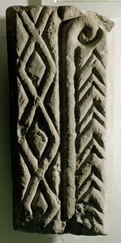 Fragment of sculptured stone.