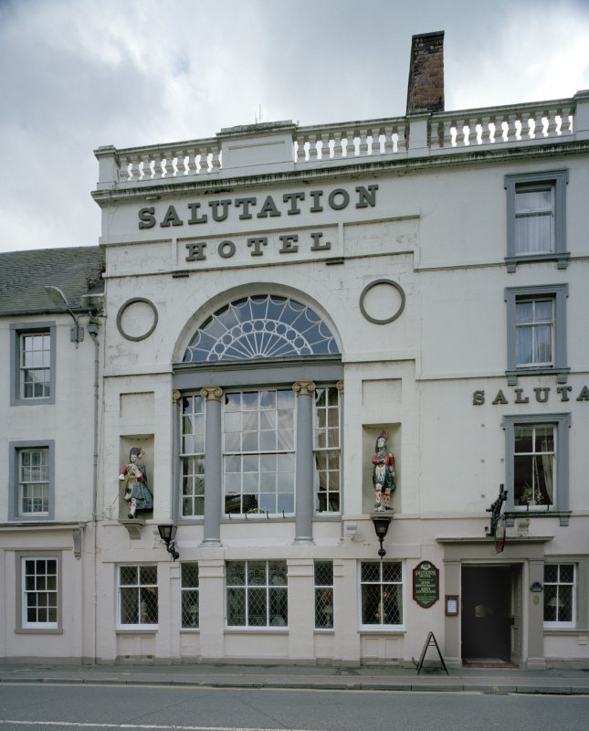 View of Salutation Hotel from N showing venetian window