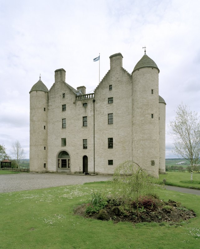 View of Castle frontage from NNW showing entrance