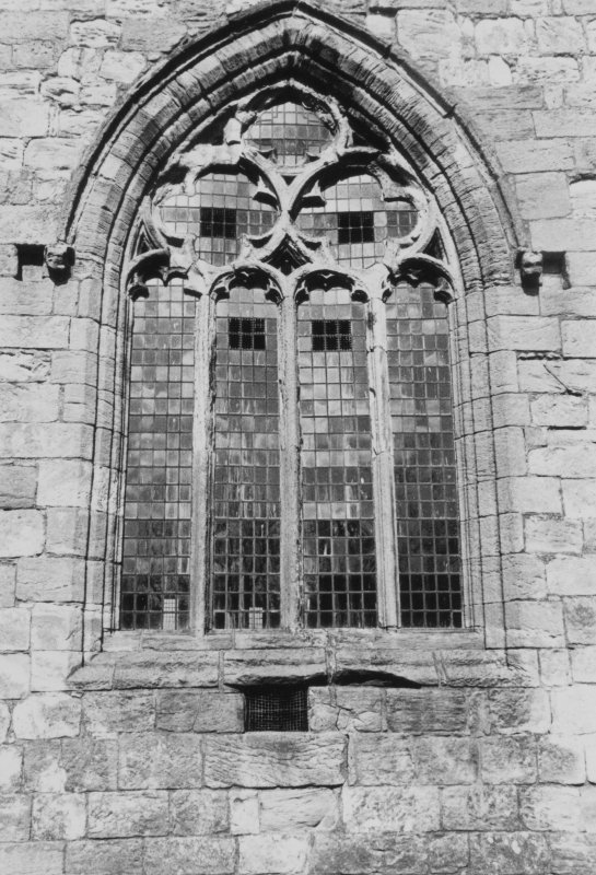Detail of late-medieval window tracery.