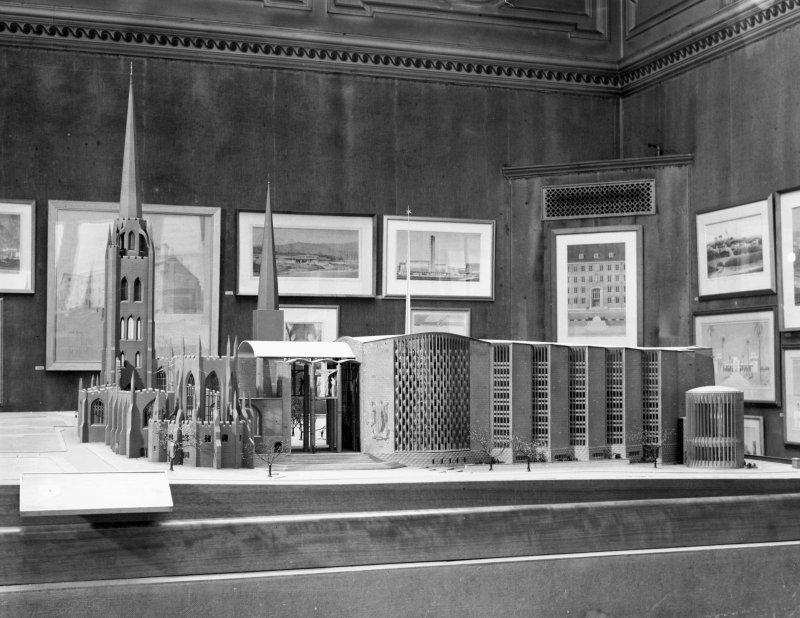 View of first model on display at Royal Academy Summer Exhibition from E.