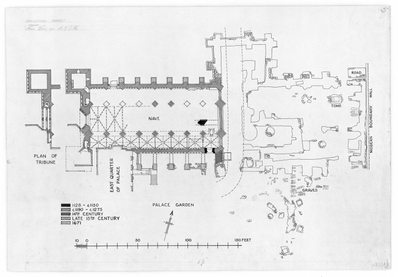 Plan of Holyrood Abbey (copied from plans by H.M.O.W.)