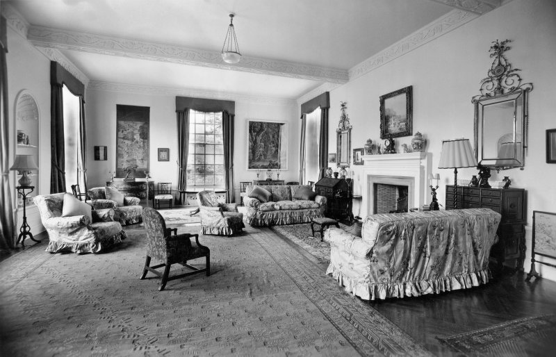 Interior. Ground floor, view of drawing room.