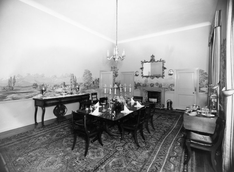 Interior. Ground floor, view of dining room.