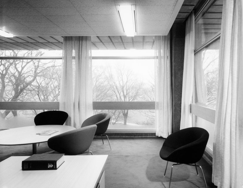 Interior. View of study area.