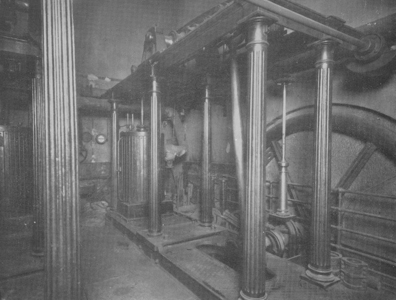 Perth, Tay Street, Waterworks. Modern copy of photograph showing original beam engines (removed 1929).