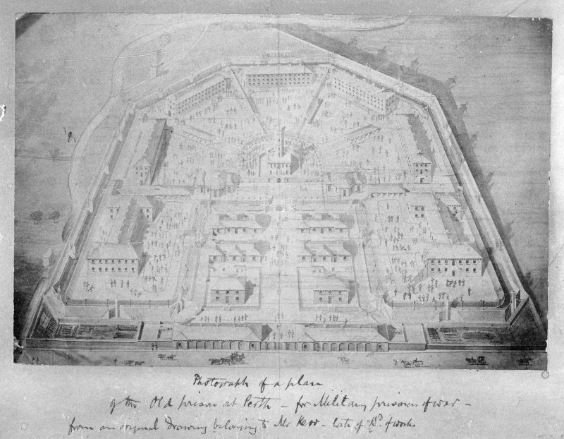 Bird's eye view of the old prison.