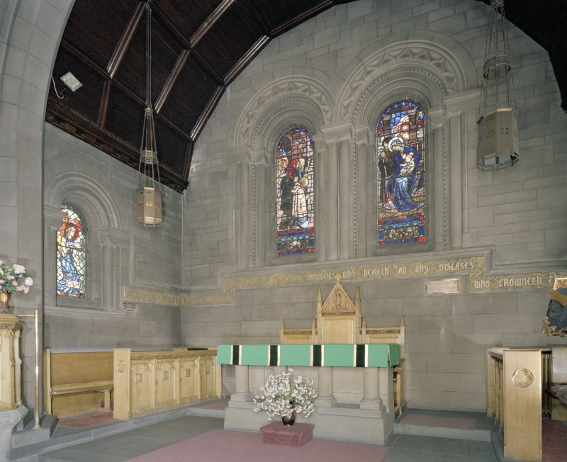 Interior. Chancel. View from SSE