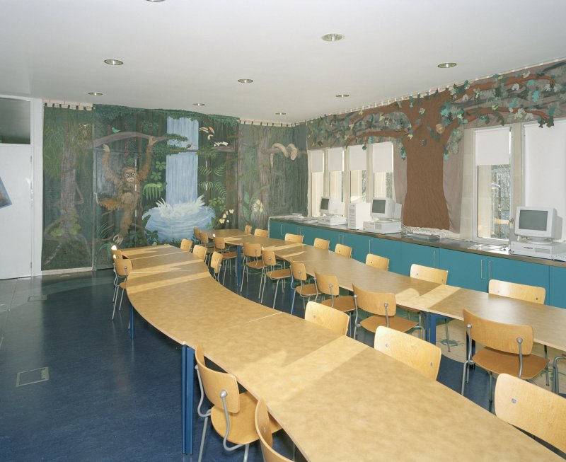 Education room, view showing rain forest display.