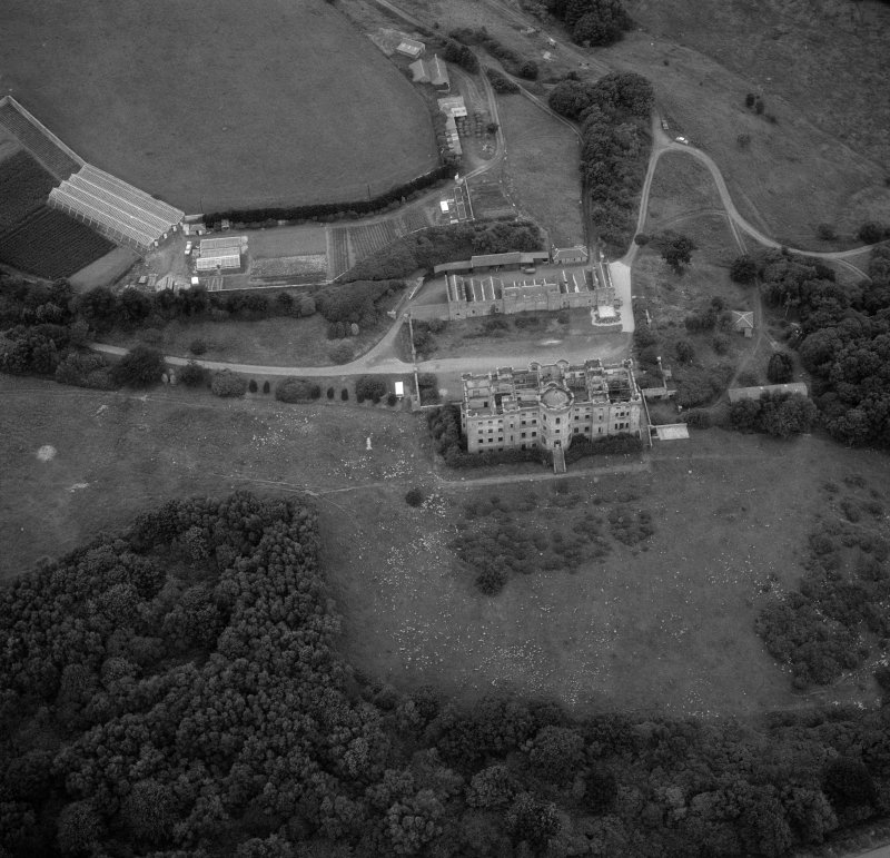 Aerial view of Dalquharran House.