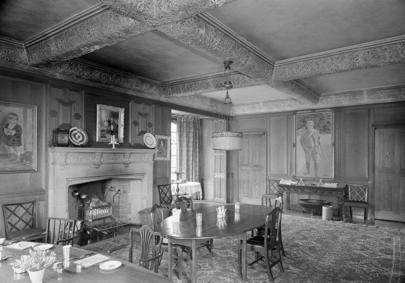 Ardkinglas, interior. View of dining room.