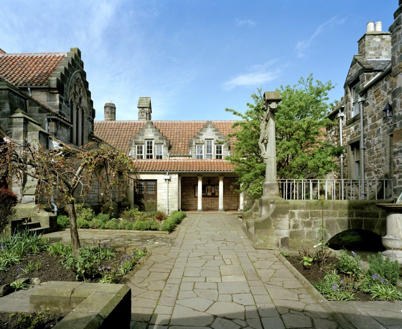 All Saints Episcopal Church,  St Andrews.  North East courtyard, view from East.