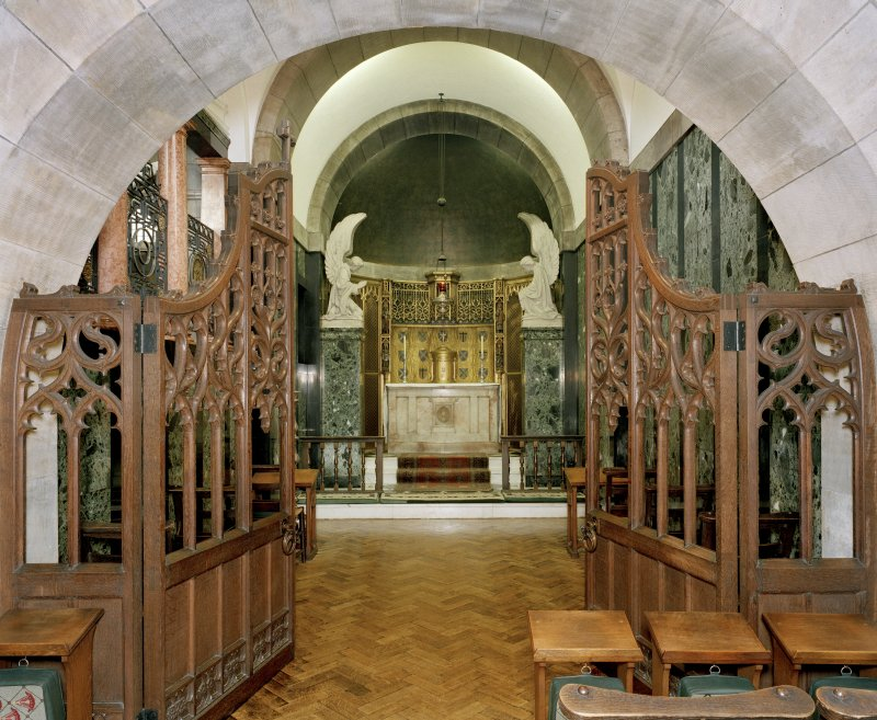 All Saints Episcopal Church, interior.  North side chapel, general view from West.