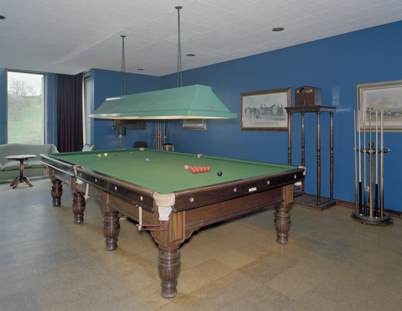 Interior, second floor, billiard-room, view from North East