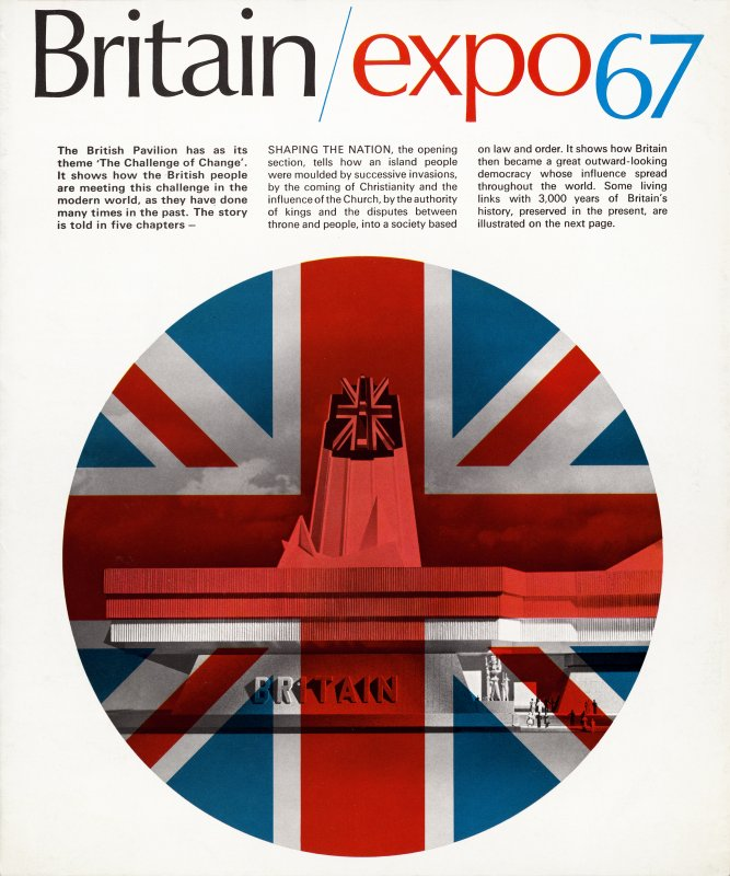 Front page of British pavilion pamphlet.