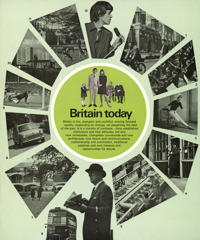 Page of British pavilion pamphlet showing 'Britain today'.
