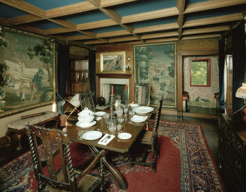 Interior. View of dining room (Rosetti Room).