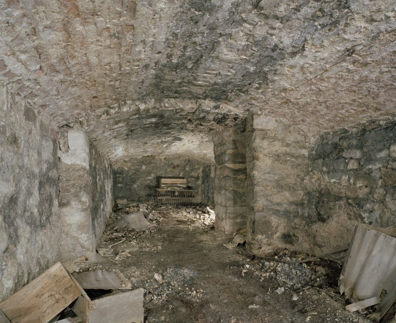 Scanned image of Interior.  Original cellar from SE.