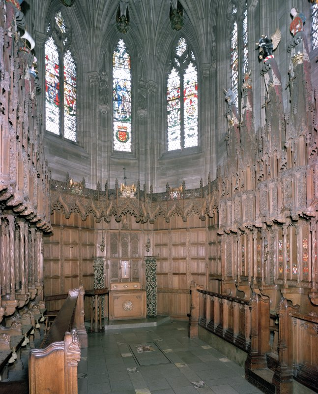 Thistle Chapel, interior, view from west.