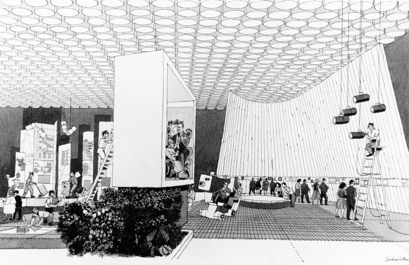 Perspective of the interior for the British Pavilion at Expo '67.