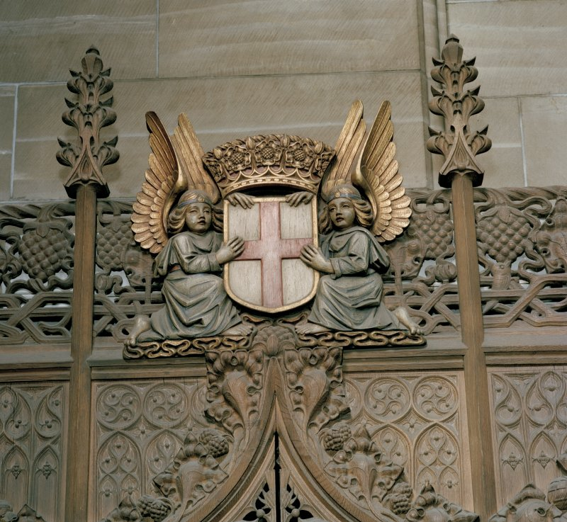 Thistle Chapel. interior, detail of hanging lamp.