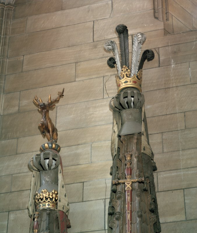 Thistle Chapel. interior, view of crests.