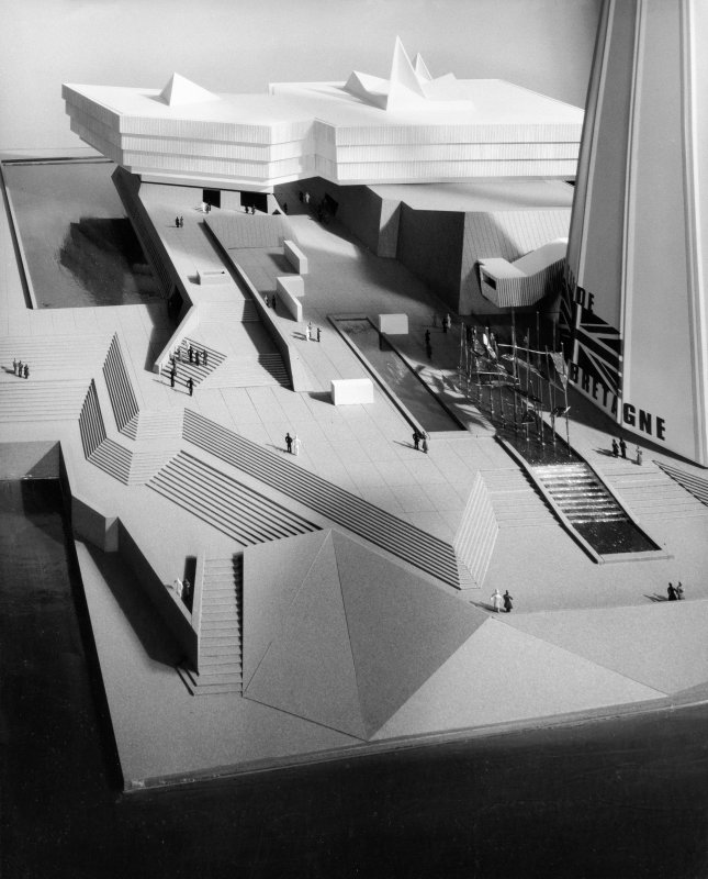 View of 1st model showing propsed scheme for the British Pavilion at Expo '67.