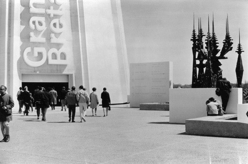 View of model showing propsed scheme for the British Pavilion at Expo '67.