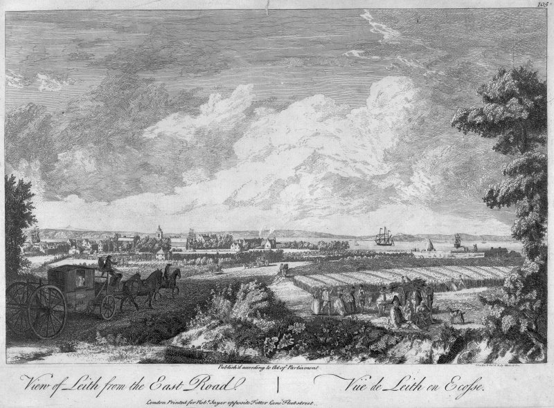 Print 'View of Leith from the East Road' Published accoridng to Act of Parliament
