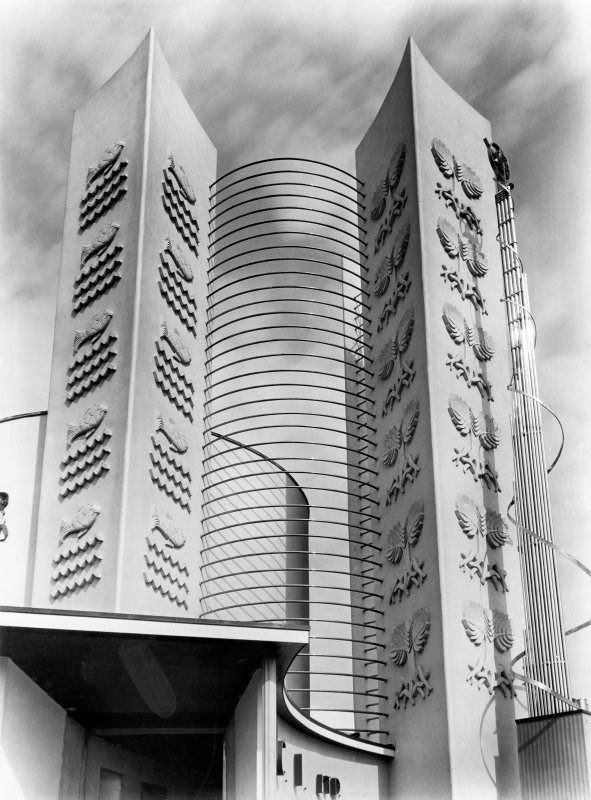 Empire Exhibition, 1938 Press photograph of ICI pavilion.