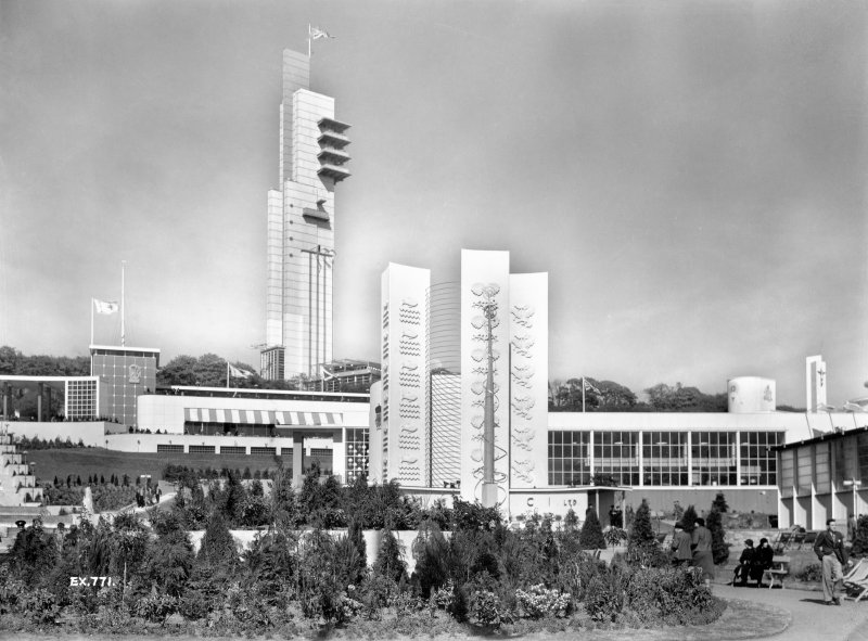 Empire Exhibition, 1938 Press photograph showing ICI pavilion and the Tower.