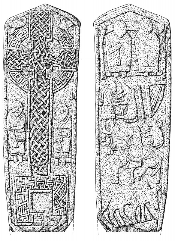 Face and reverse of the Aldbar cross slab.