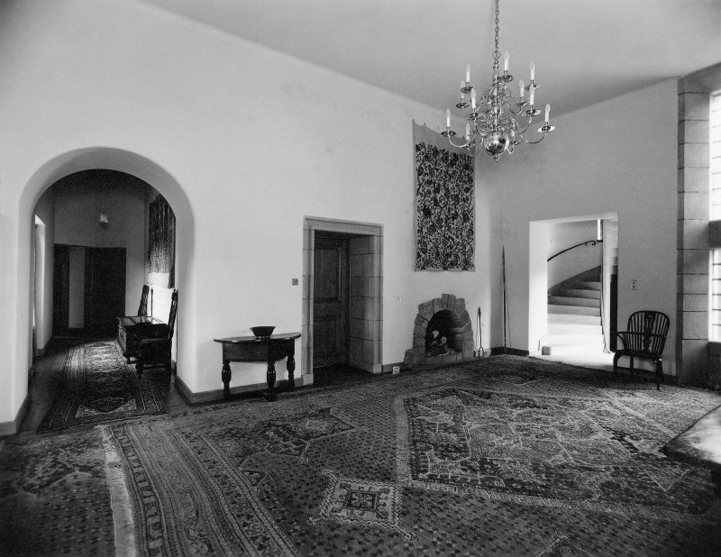 Ground floor, view of hall.