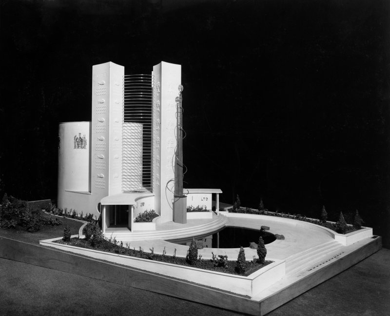 Empire Exhibition, 1938. View of model of ICI Pavilion.