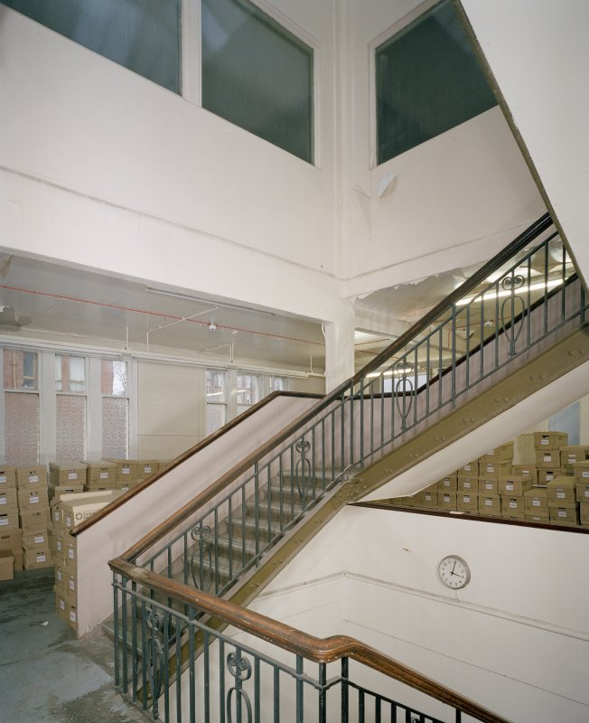 Scanned copy of photograph. Interior. Laboratory Building, 1st floor, central staircase.