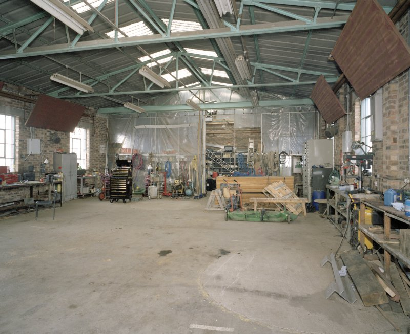 Interior.  Showing general layout of workshop with site of winding drum in the foreground.