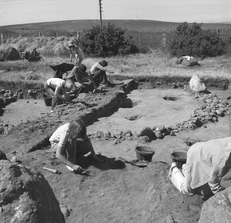Excavation photographs: general views of 'ring cairn' excavation.