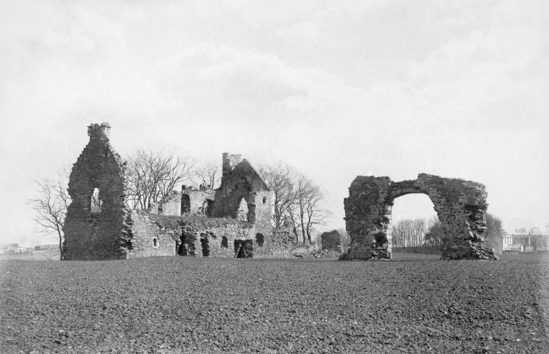 Historic photograph showing general view of ruin.