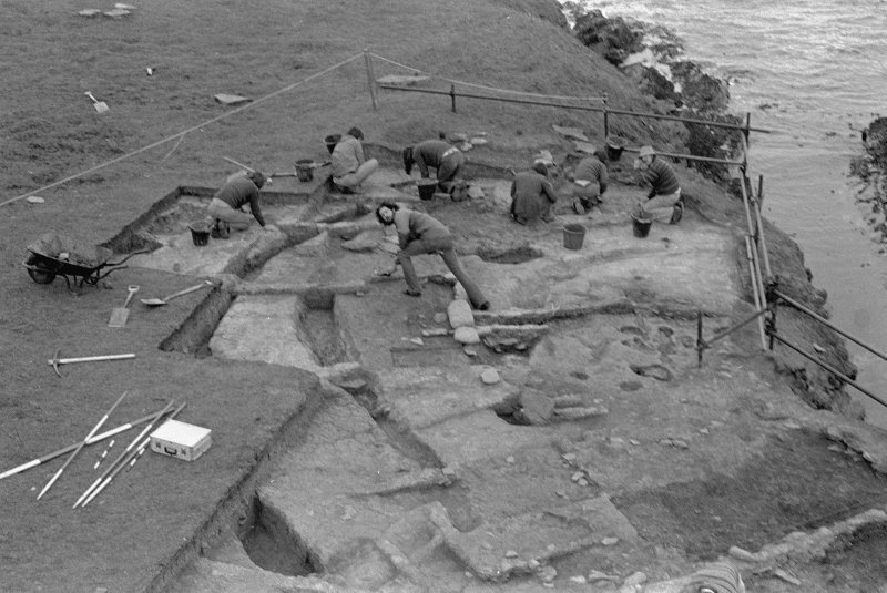 Excavation photographs: Brough of Birsay excavation.