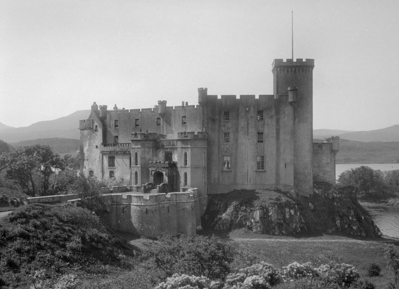Skye, Dunvegan Castle. General view from North East.